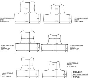 Beez Combat Systems BALCS dimensionsXXL -L