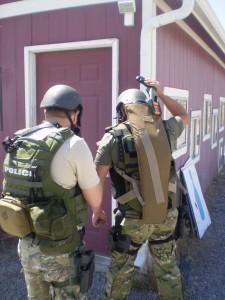 Swat Team Training With Shotgun Scabbard Beez Combat Systems