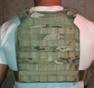 Plate Carrier Molle back AR500 Omega Armor Trauma Plates